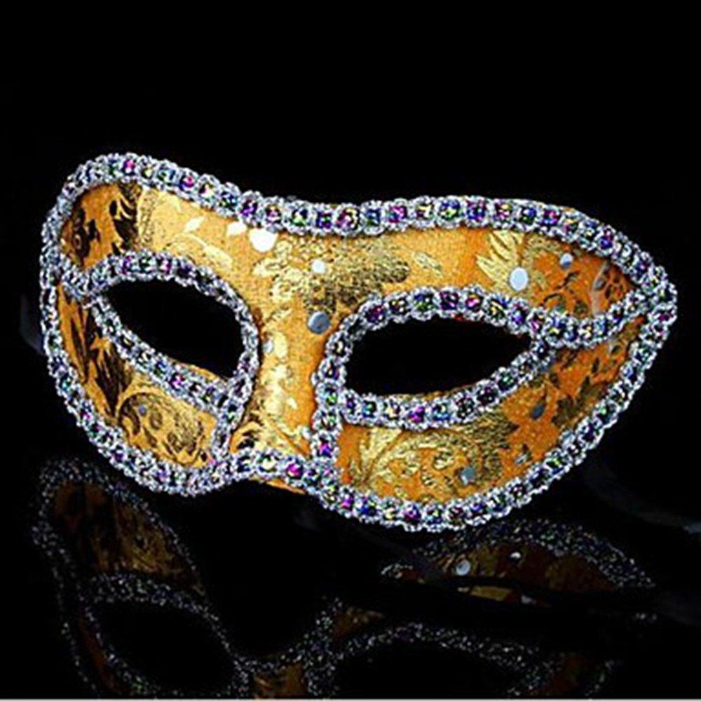 Maschere BXFAj Xhhair panno Gras Halloween (assortiti Mardi maggior parte del formato Masquerade band con schermo piatto Fit unisex Un Natale Fancy a colori) Maschere bordo Rvjx