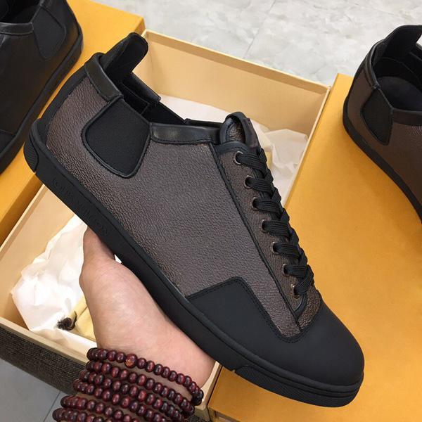 scarpe Moda Uomo reale delle donne di cuoio Scarpe Mocassini stringate basse migliori scarpe moda casual designer scarpe da ginnastica mens formatori con box formato 38-45