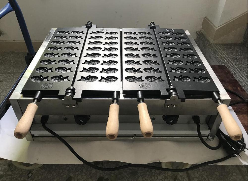 Бесплатная доставка Mini 32 рыбы вафель антипригарным покрытием Японский стиль Малый Taiyaki машина