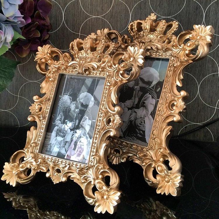 الأزياء الباروك الراتنج إطار الصورة تنقش الذهب مطلي ترف سوينغ إطار الصورة hdjY #