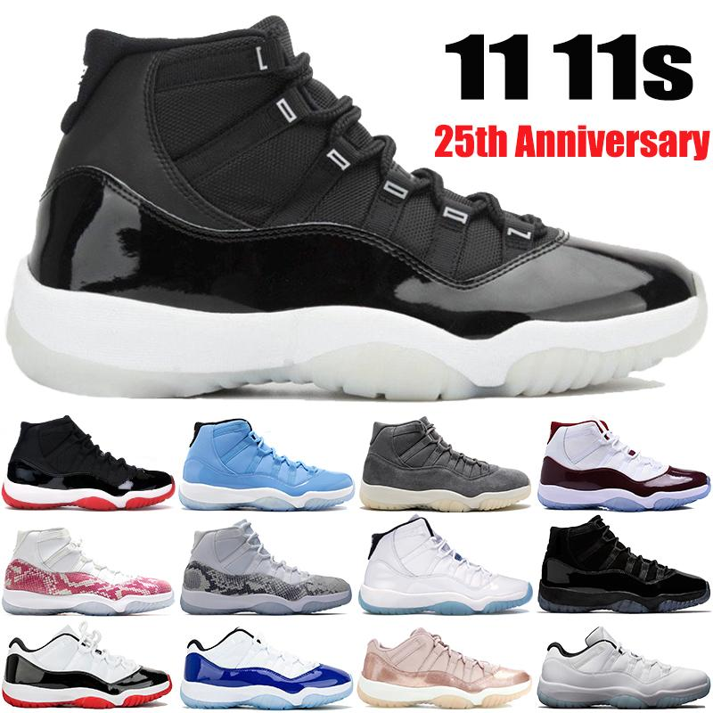 Nouveau 11 Low White Bred 11s High SE Métallique Or Jmpman Chaussures De Basket-ball Velvet Heiress Blue Pinnacle Gris Bred Hommes Femmes Baskets Baskets