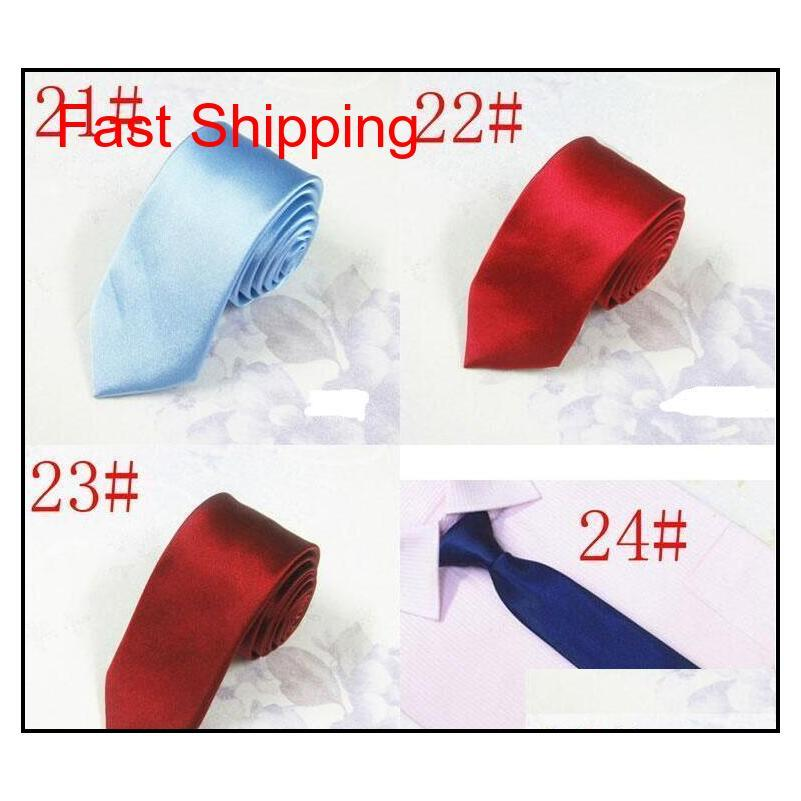 24 Renkler 5 cm Casual Dar Ok Erkekler Için Bağları Moda Sıska Kravat Boyun Kravatlar Şeker Col Qyleju HOMES2007