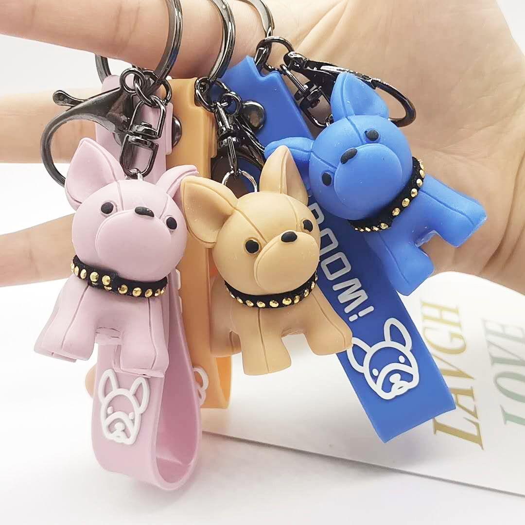 2021 Web Celebridade Francesa Bulldog Modelagem Chaveiro Bolsa de Menina Pingente Filhotes Bonitos Pingentes Spot Atacado