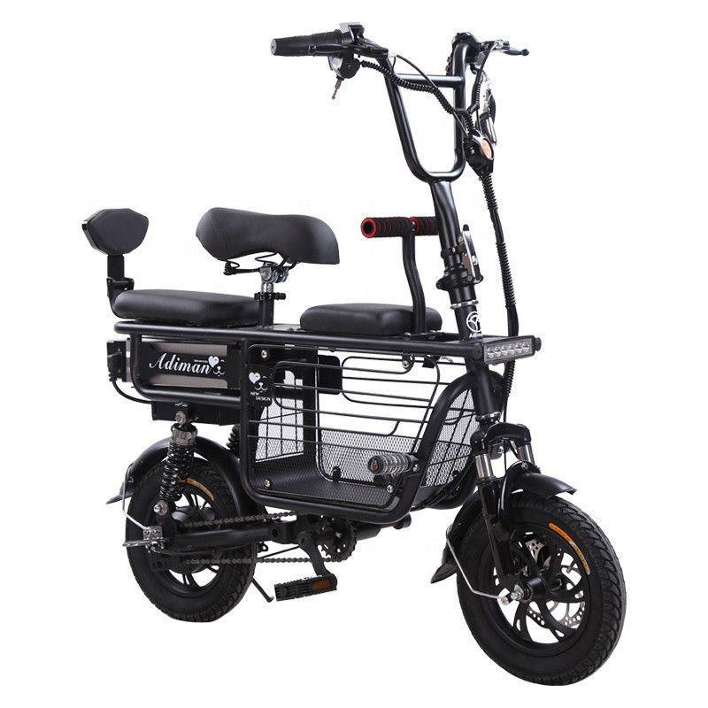 Daibot Electric Bike Fahrrad Elternkind Zwei Räder Elektrische Fahrräder 48 V 80km Smart Tragbare Elektroroller mit drei Sitzen