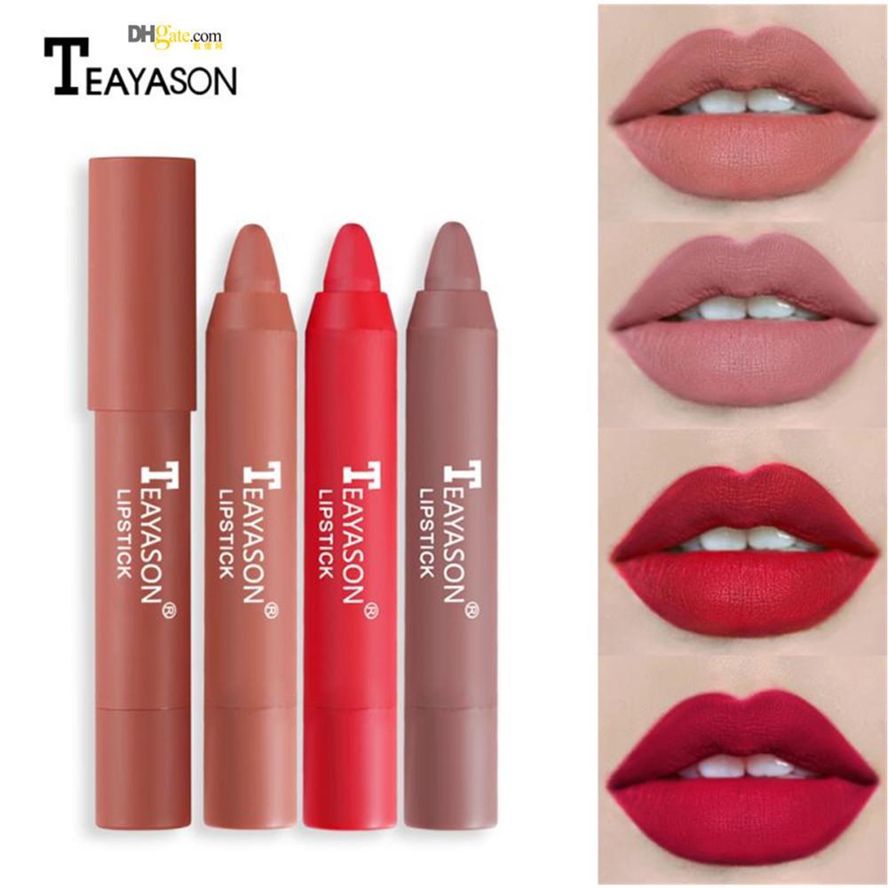 TEAYASON 12 الألوان غير لامع أحمر الشفاه الشفاه صبغة أحمر الشفاه قلم ماكياج مضاد للماء maquillaje maquiagem طويل مثير دائم يشكلون