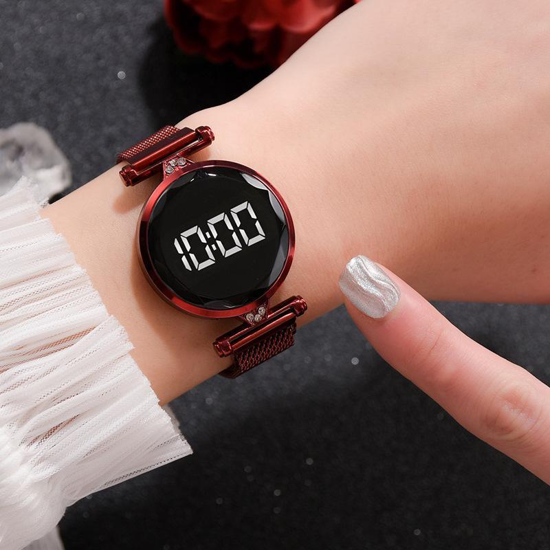 2020 aço inoxidável New Digital Assista Homens Esporte relógios eletrônicos Led masculino do relógio de pulso para homens Relógio Bluetooth Waterproof
