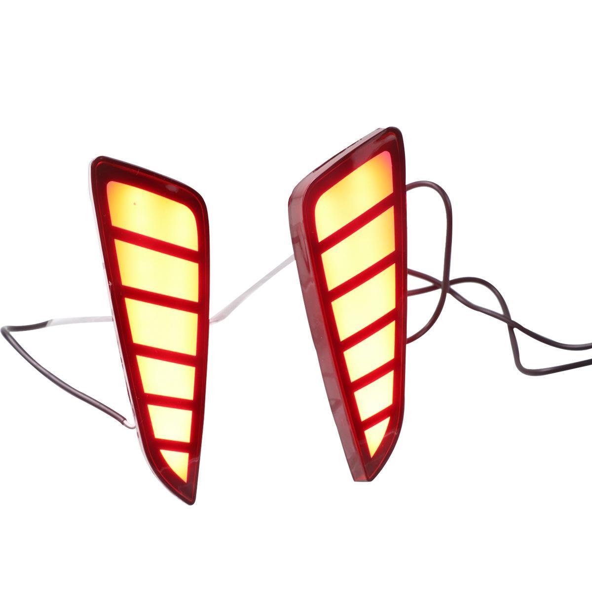 Автомобильные задние бамперские огни на 2017 год - 2020 Honda Chr 2 Функции Светодиодный тормозной световой день беговые светильники DRL противотуманный светильник