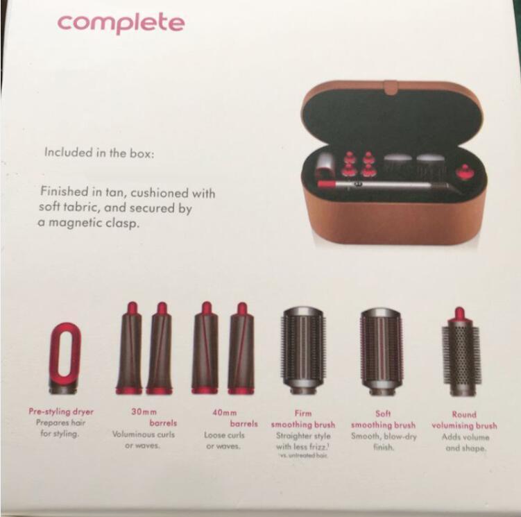 8 têtes multi-fonction Dispositif de coiffure de cheveux Sèche-cheveux Boîte de cadeau de fer de curling automatique pour les chemins de coiffure rugueux et normaux