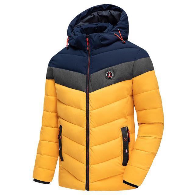 الرجال في فصل الشتاء العلامة التجارية دافئ عارضة سميكة سترات مضادة للماء ستر معطف الرجال الخريف أبلى صامد للريح القبعة ستر سترات الرجال الحجم L-4XL