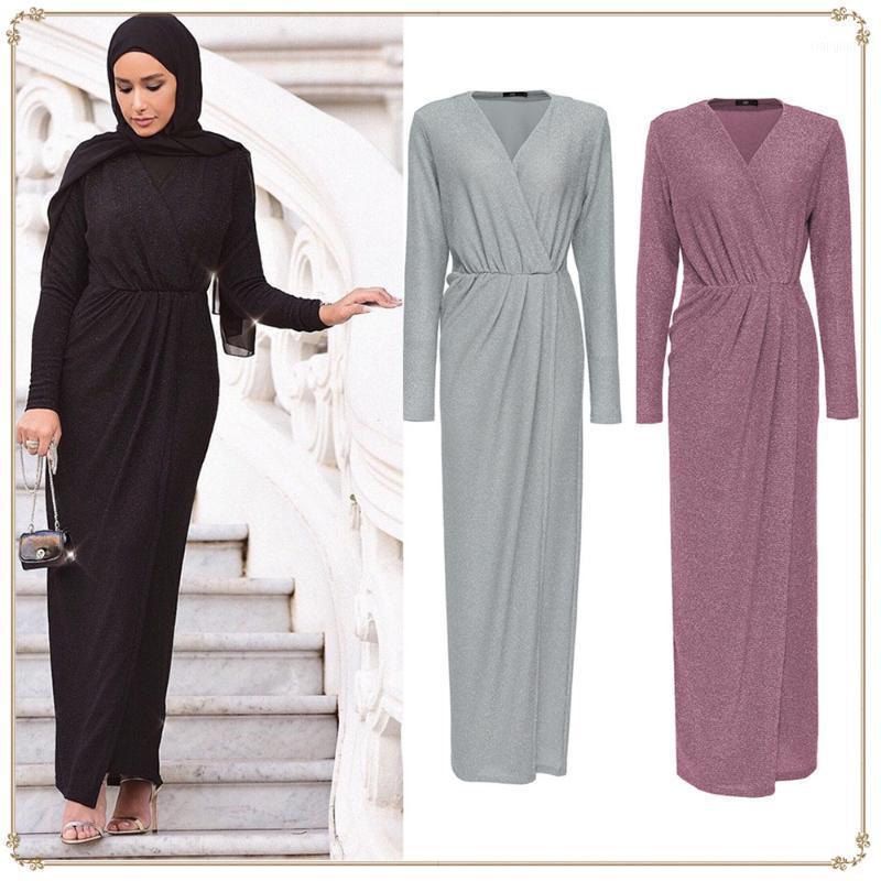 Abaya Kaftan Dubai Islamische Kristall Stretching Muslim Kleid Kaftan Hijab Eid Kleider Ramadan Elbise Musulmane Longue1