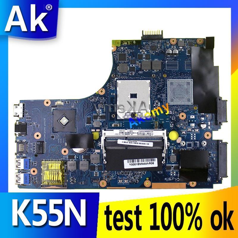 AK K55N Laptop motherboard For Asus K55N K55DE K55DR K55D K55 Test original mainboard
