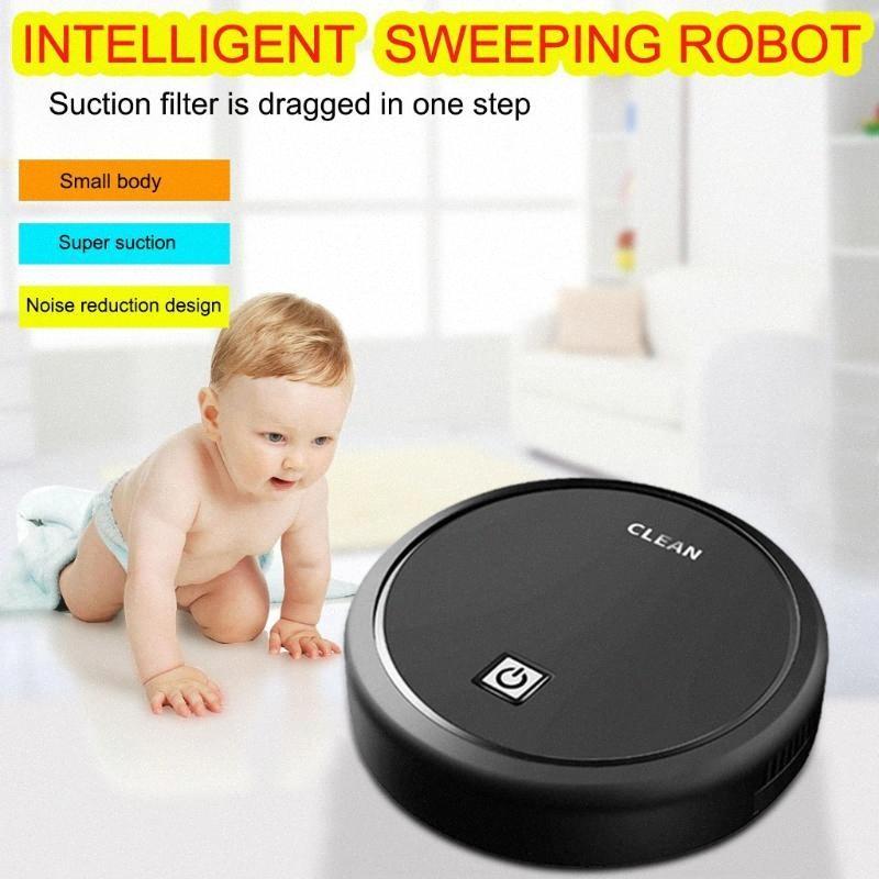 USB de charge Robot intelligent Lazy Aspirateur sans fil Balayer Robots Aspirateur Nettoyage de tapis ménagers Machine Eya7 #