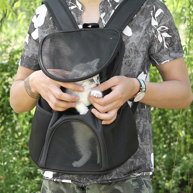 CAT рюкзак туристический перевозчик двойной плечо дышащая сетка мешок маленькая собака кошек открытый рюкзаки для дома для домашних животных, несущие продукты LJ201201