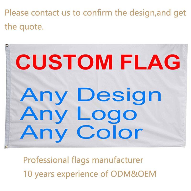 Benutzerdefinierte Flagge Druck Multi Größen Fliegende Banner Rechteck Polyester Dekor Werbung Sport Dekoration Auto Unternehmen Logo Angekippte VT1846