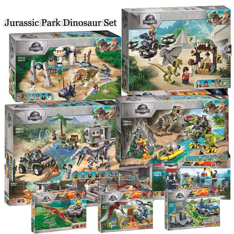 Jurassic Rakamlar Dinozorlar Yapı Parkı Yeni Blokları Dünya Tuğlalar Tyrannosaurus Rex I-Rex Çocuklar Oyuncak Yılbaşı Hediyeleri