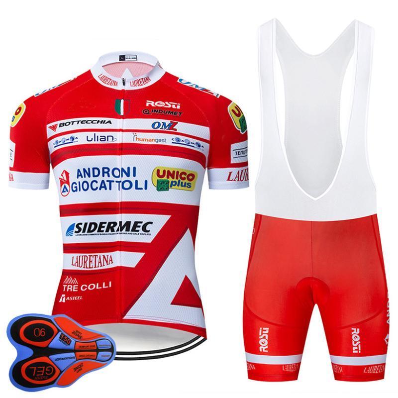 Equipe verão Italia Ciclismo Pro Jersey 9D Bib Set MTB Red bicicleta Roupa Quick Dry Clothes Bike Wear homens Short Maillot Culotte