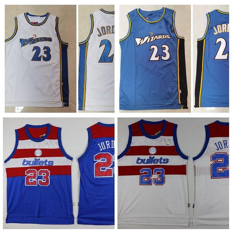 Мужчины 23 Майкл Джорь Дэн ВашингтонПулиВолшебникиРетро Баскетбол Джерси