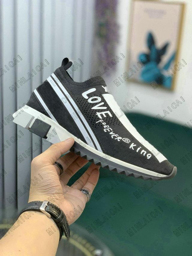 Mens Sorrento Schuh mit Fleck Espadrilles Stretch Knit Socken Trainer Zweifarbige Gummi Micro Sole Womens Liebe Familie Casual Schuhe