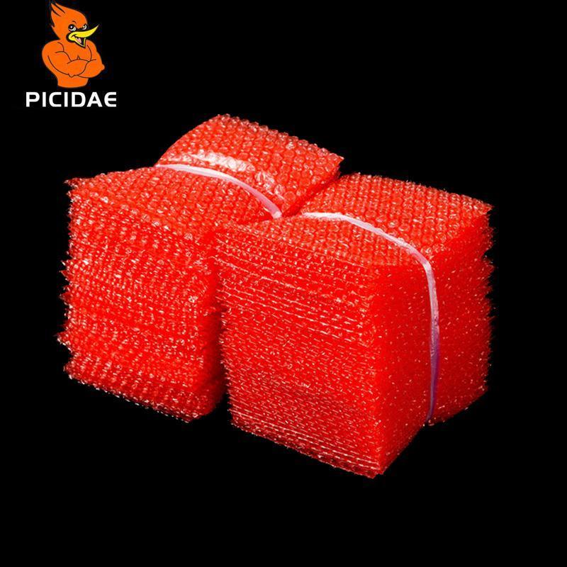 붉은 색 더블 필름 버블 봉투 / 플라스틱 PE 2 레이어 포장 봉투 / 정전기 방지 Shockproof 패딩 파우치 버블 가방