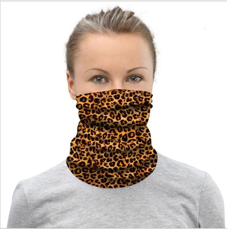 Maschere del ghiaccio Leopardo Sciarpe della stampa del leopardo 3D Suncreen Magic Turban Spot Sito di Seta Guida Guida Esterni Partito Sportivo Sport Maschera Stripe Band da polso Yllskbv