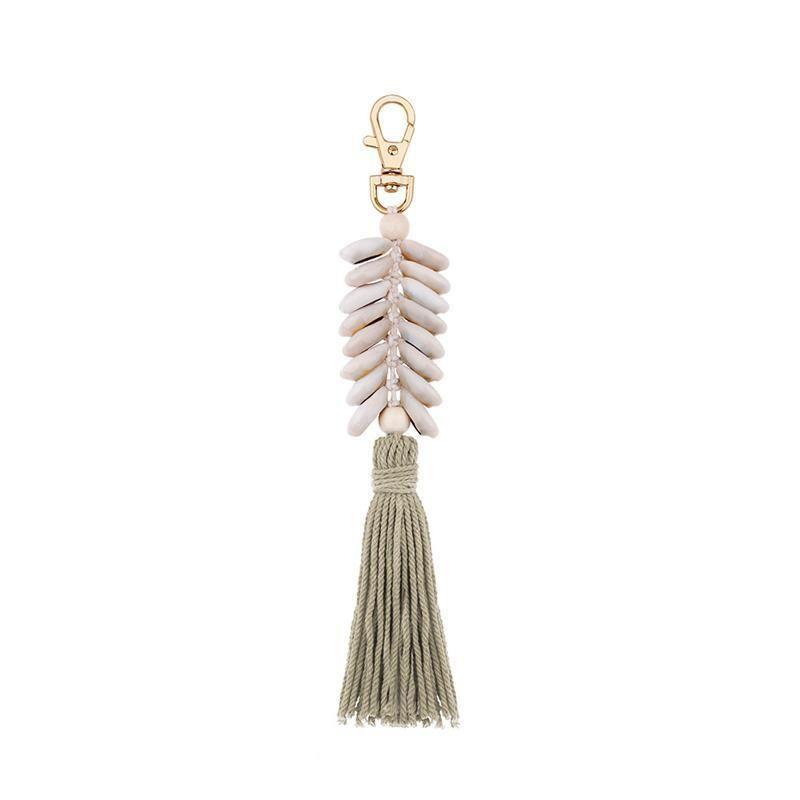 1 pcs estilo marinho shell borla franjas diy jóias vestes saco acessórios decorativos cadeia chave pingente artesanato de algodão tassels h qylwrs