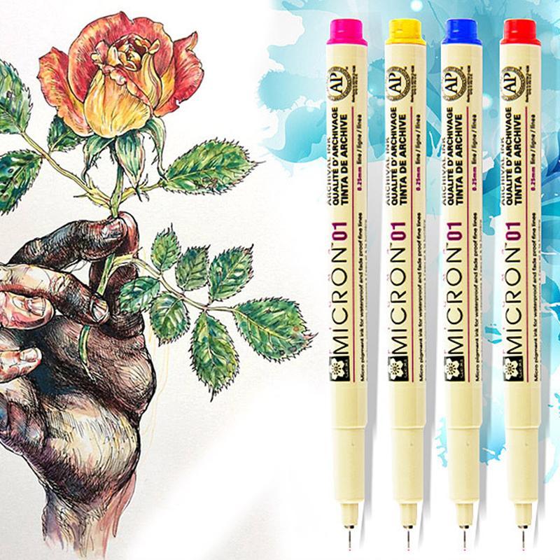 14 Colors Sakura Pigma Micron Liner Pen Set Design Drawing Manga Sketch Art Markers Fineliner Pens Japanese Stationery Supplies 201116