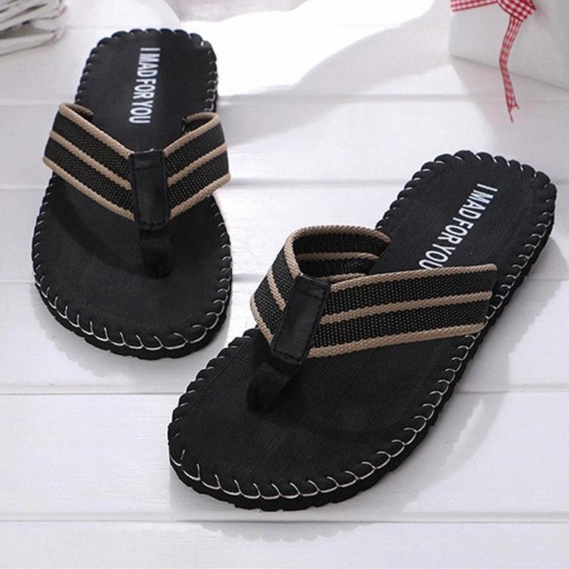 Бренд Мужские тапочки EVA Мужчины Flip Plops Lean Classic Zapatos de Hombre Chaussure Homme Нескользящий наружный пляж для пляжных сандалии # JG4W