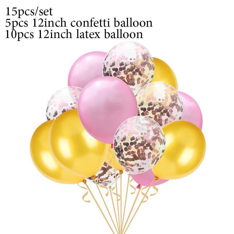 15pcs Gold And Black Metal Latex Balloons Birthday Party Decorations Adult Kids Air Balls Helium Globos Wedding Decor Toy S6xn sqcRQU