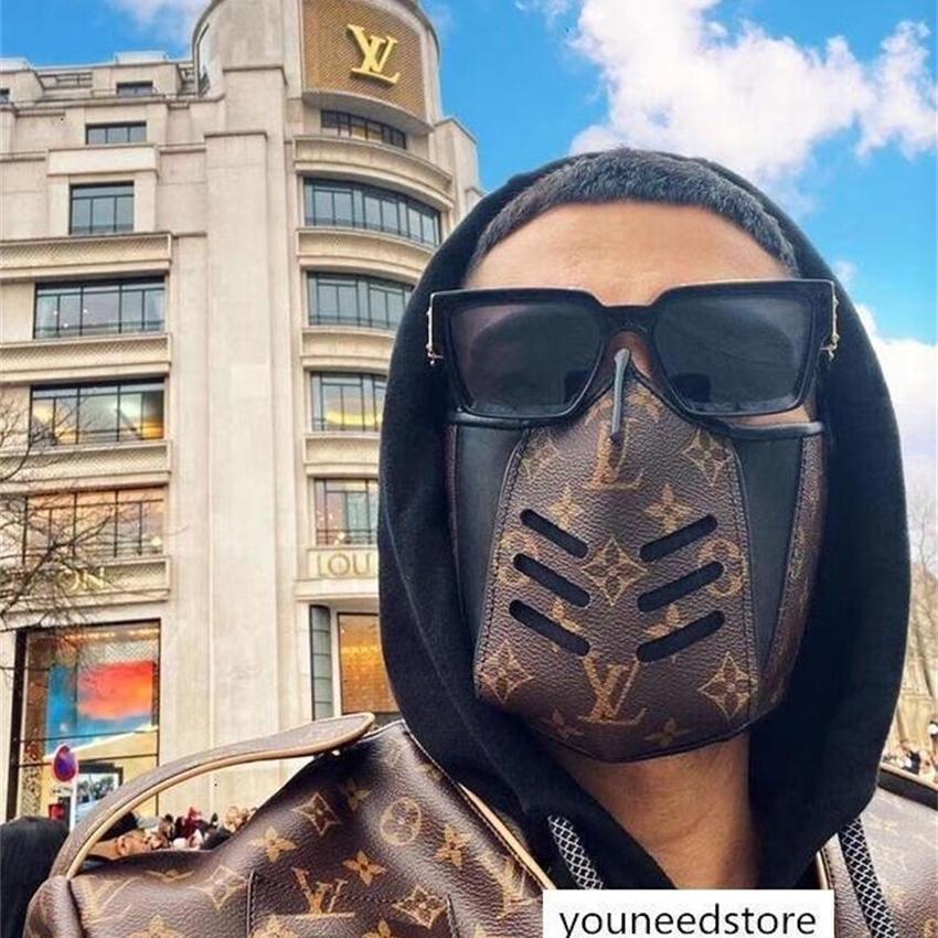 Liebhaber Leder Halbgesicht Maske Berühmte Designer Handtaschen Damen Handtasche Mode Tasche Womens and Herren Shop Taschen Backpac