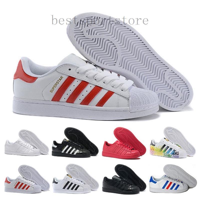 Adidas super star starsuper 2019 Casual Originales Superstar blanca holograma iridiscente junior Superstars 80 orgullo zapatillas Super Star de las mujeres de los hombres del dep