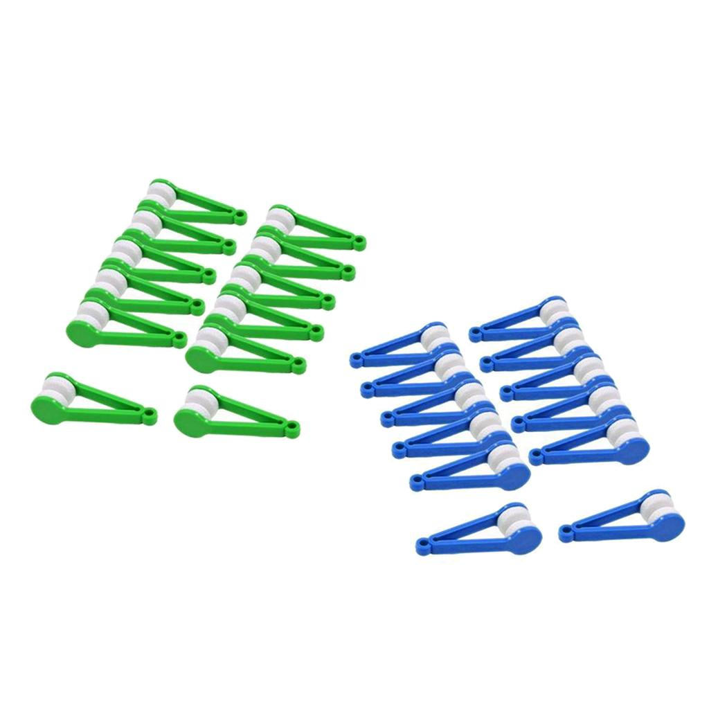 24x Eyeglass Microfiber Spectacles Cleaner Brush Cleaning Tool