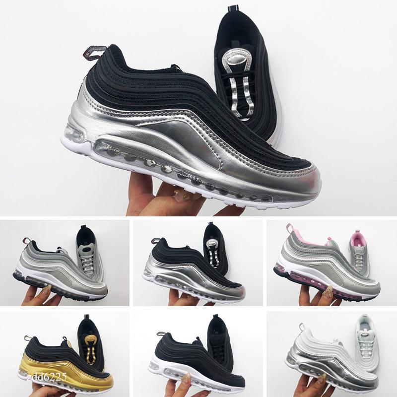 Scarpe per bambini Uomini e donne OG Scarpe sportive in oro Argento Bullet New Color Style Style Sconto Scarpe da ginnastica per bambini