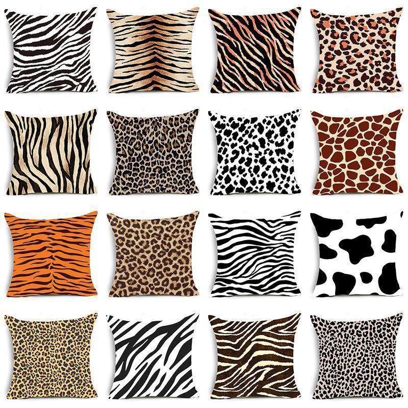Black White Cuscini Copertura decorativa stampa morbida Super cuscino Velvet Animal e Case Zebra Pattern Sofa dei leopardi singolati DWF4875 GBGM