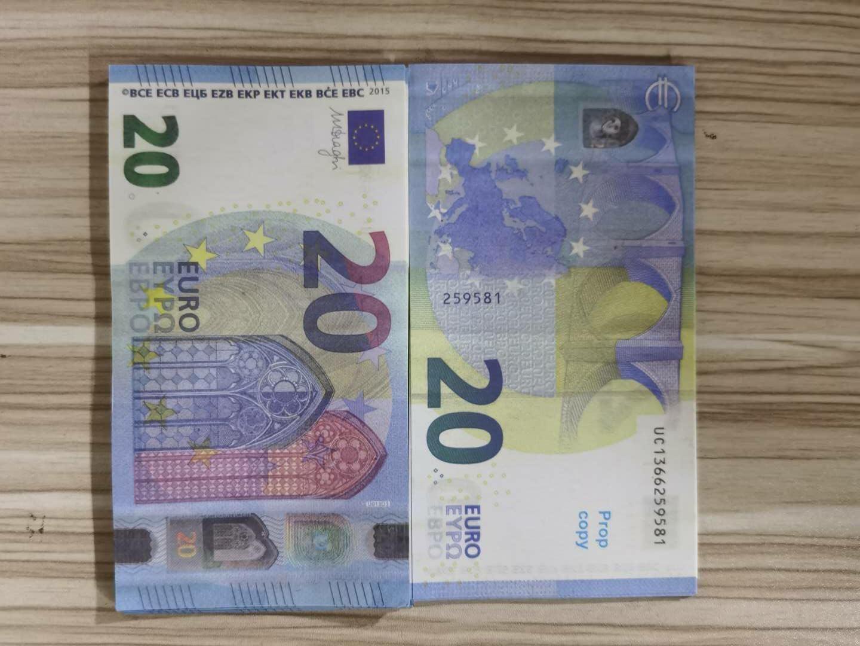 Fake Banknote Bags Hot Prop 19 Evero Money Reading Paper Phower 10/20/50 / 100/200 / 500 евро Банкнота Price Banknote Копировать Gold Xhlms