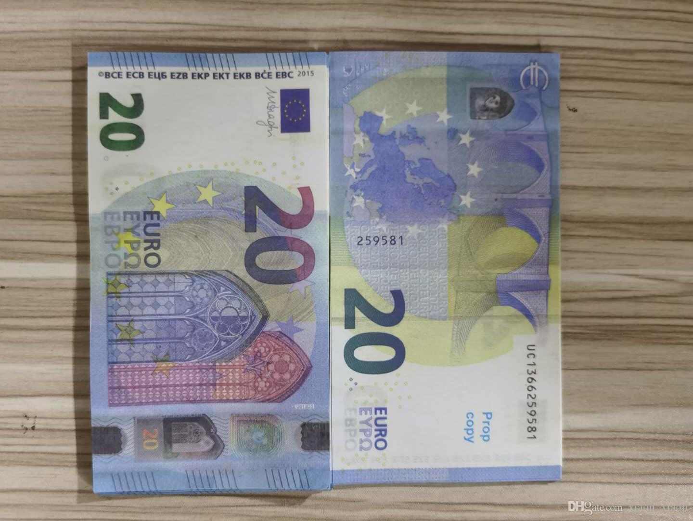 Access Vendre de l'argent Fake Gold Euro Billet Banknote Banknote Banknote Euro / 100/200/500 Sacs de prix Papier 10/20/50 19 Txtuo