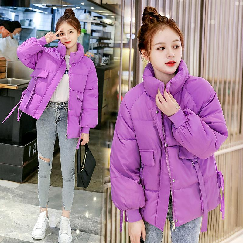New Women Parkas Winter Thick Warm Jacket Coats Stand-up Collar Female Short Down Cotton Coats Thicken Loose cold Outwear 210203