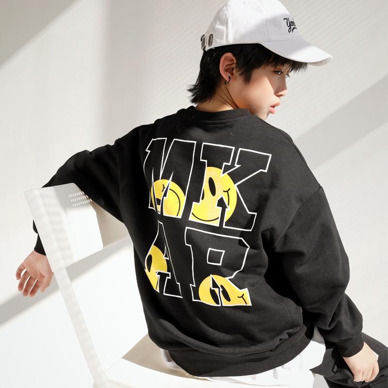 Vêtements pour garçons 2021 New Zhongda Tongchao Pull de marque et d'automne Printemps Handsome Manches à manches longues