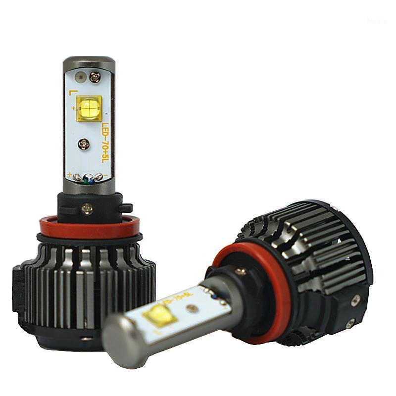 Fari dell'automobile V16 H4 LED H1 H3 H7 H11 880 H13 9005 9006 HI / LO 80W 9600LM EMC Turbo 6000K Forte FOGLIA LUCE FOGLICE FOGLICE FOGLICE KIT1
