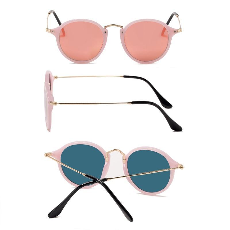 SPLOV Круглые поляризованные очки для мужчин Женщины Vintage покрытия Зеркальные Солнцезащитные очки Марка Дизайнер Женский Eyewear óculos De Sol