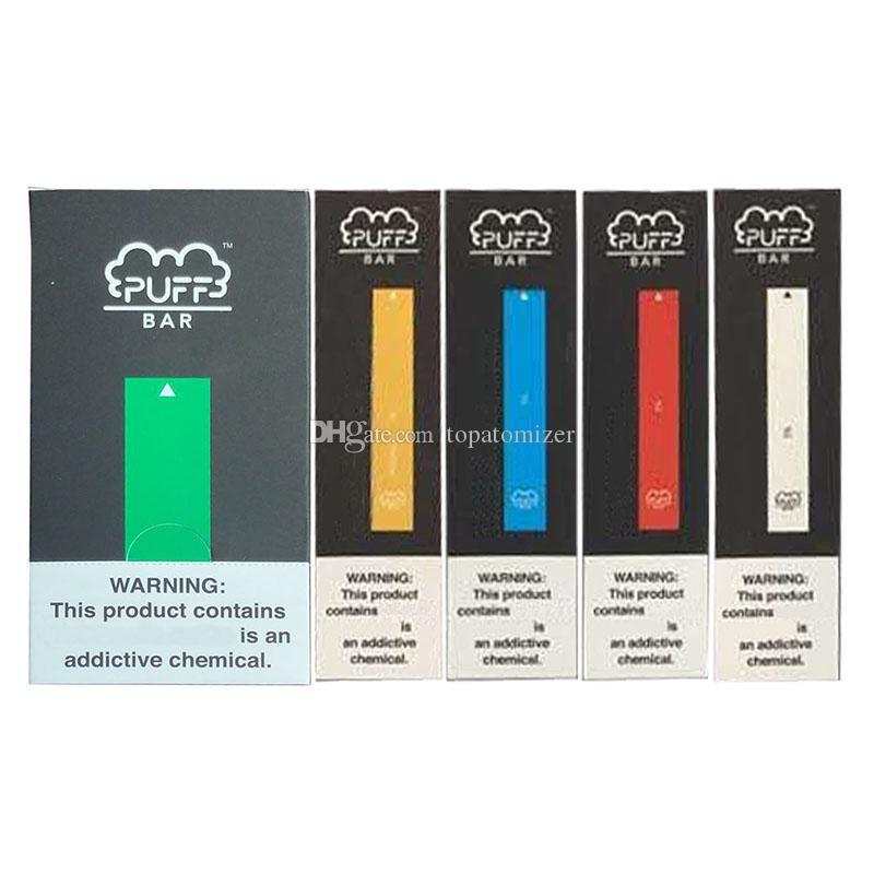 22 couleurs les plus populaires Puff Bar à usage unique Vape appareil 280mAh batterie de cartouche Puff Bar Kit de pré-rempli avec le code de sécurité