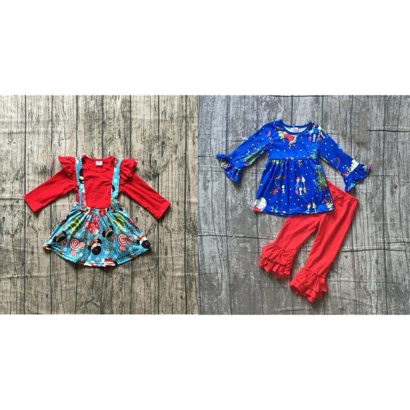 Girlymax Special Sales of Christmas Set Baby Girls Dress Outfit 201126
