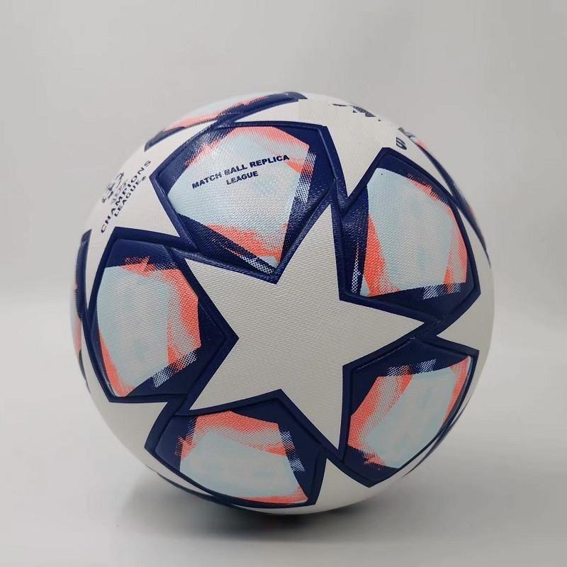 Novo 20 21 European Champion Soccer 5 Bolas 2020 2021 Final Kyiv Pu Tamanho 5 Bolas Grânulos Slip-Resistant Futebol Frete Grátis