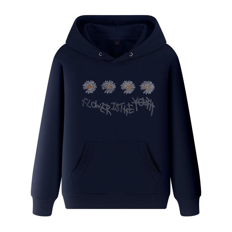 Мужчины пружины с капюшоном Medusa Tiger Head Thertshirts Grajuku Daisy Print Теплые пальто толстовки мужские негабаритные пуловеры большой размер 5xL A026