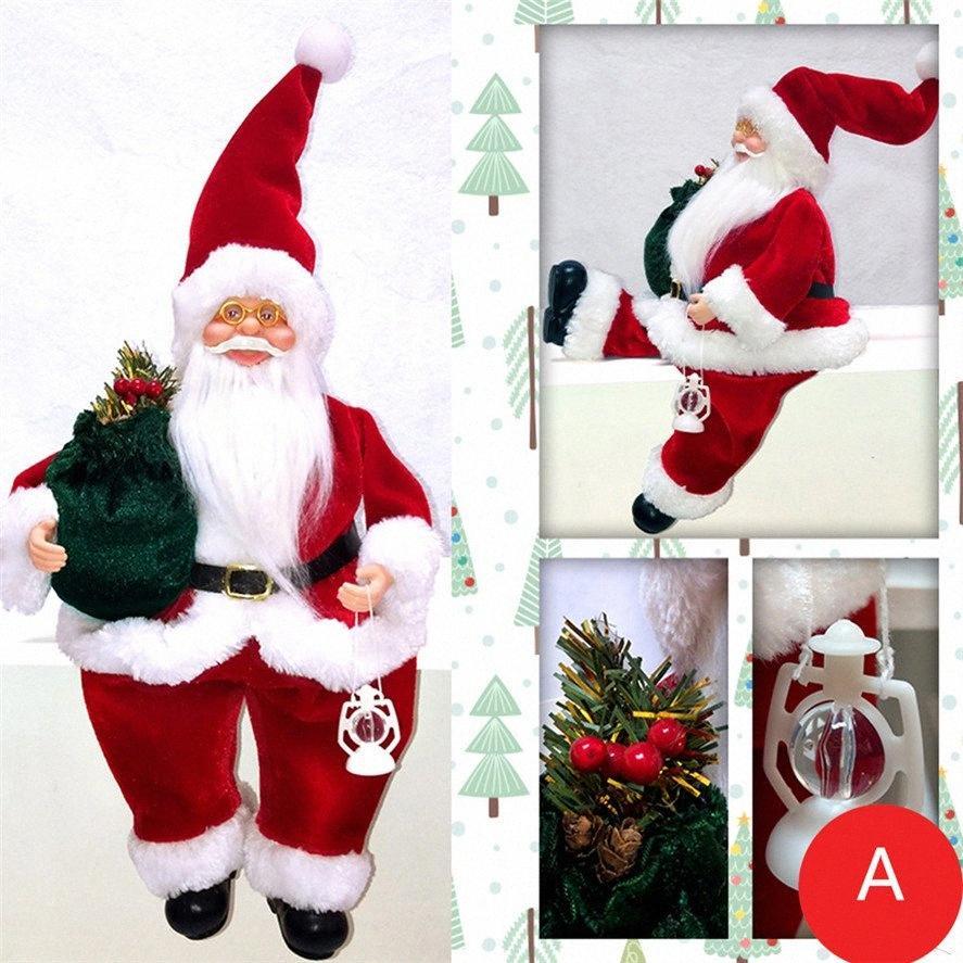 2020 Presentes de Natal Toy Natal Papai Noel decoração para a casa 47x20x11cm Papai Noel para crianças Xmas Detalhes no GRlD #