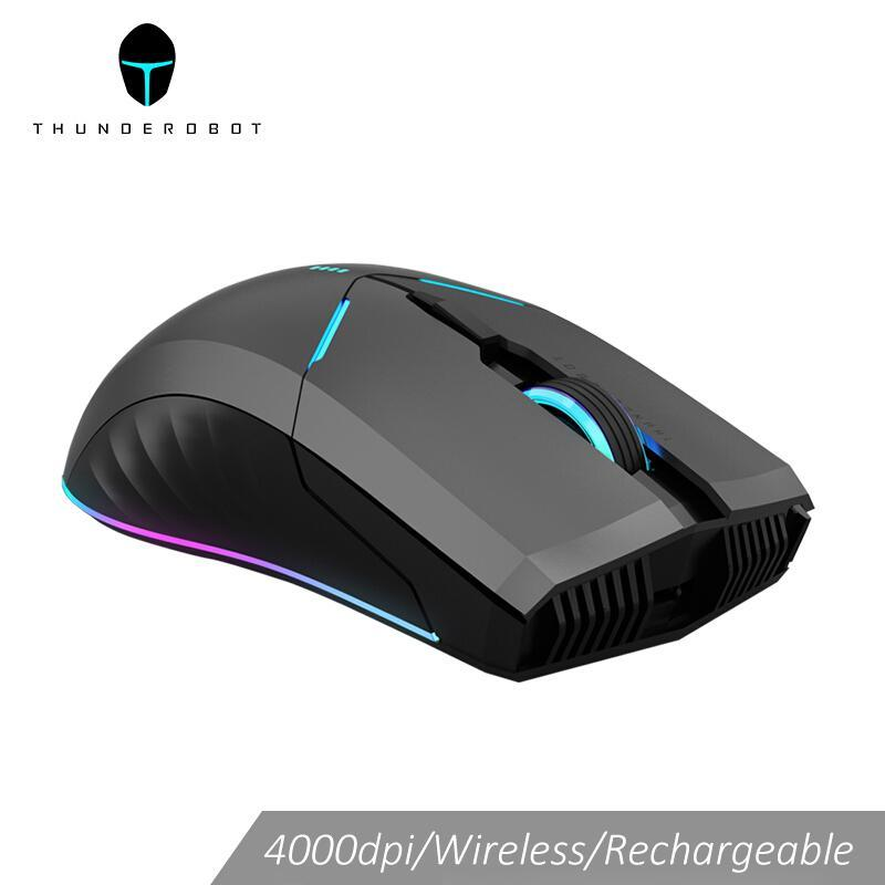 Thunderobot wireless mouse gaming mouse OMRON LED backlight Programmable rechargeable 4000 DPI computer