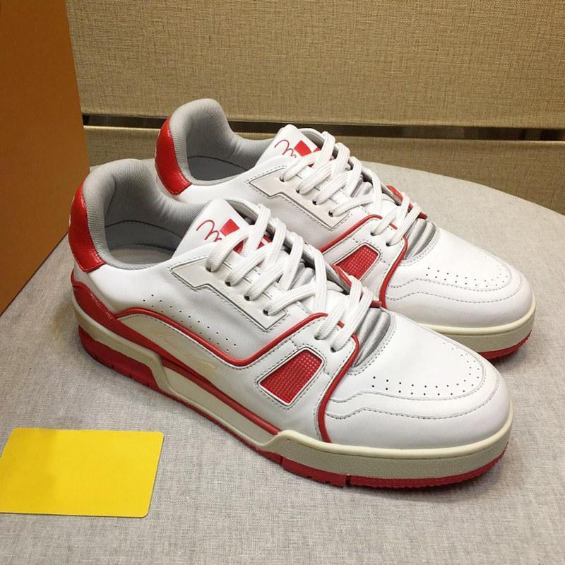 New Arrival Trainer Sneaker Mens Sapatos Leve Outono e Inverno Luxo Lace -up Sapatos Moda Soft Calçado Esportes Sapato