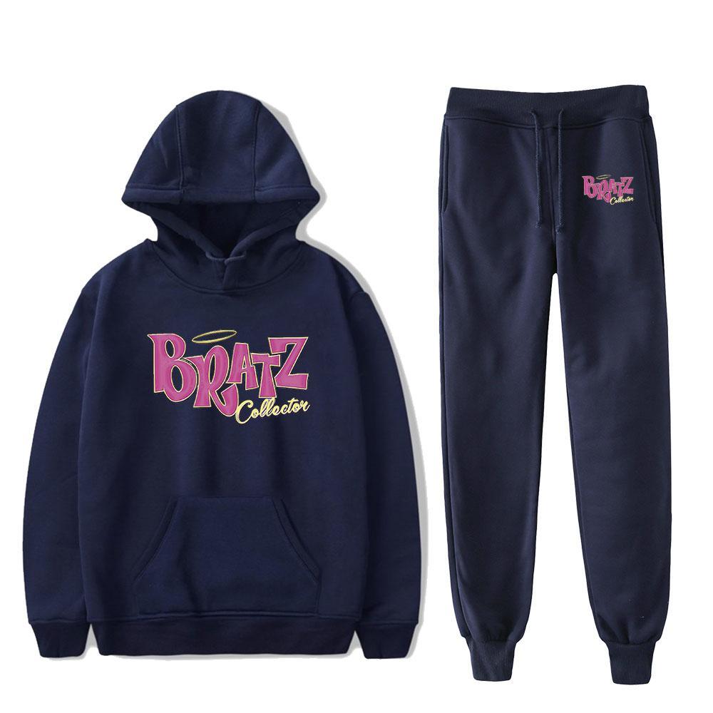 Bratz Angelz da rocha Two Piece Set mulheres / homens Hoodies + calças compridas Pullover Unisex Harajuku Suit 1013