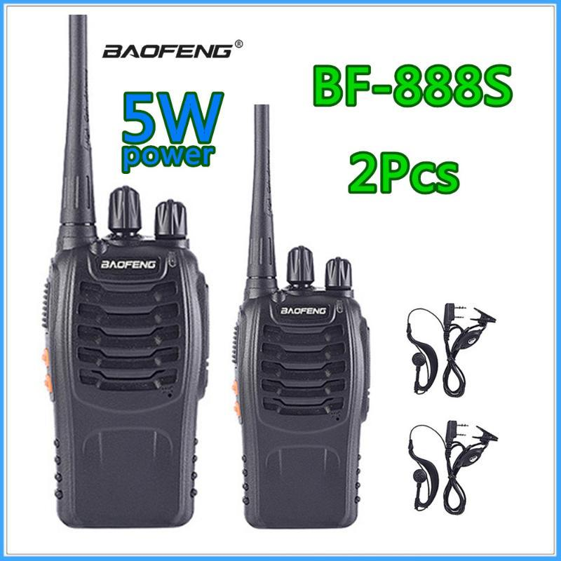 1-2pcs Baofeng Bf-888s Walkie Talkie estação de rádio BF 888s Radio Talki Walki BF 888s portátil transceptor UHF 400-470MHz 16CH