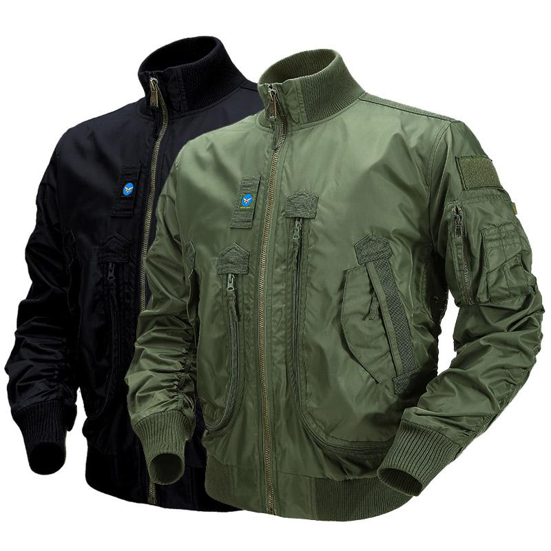 Outdoor Sports Gear Jungle Hunting Woodland Shooting Coat Tactical Combat Clothing Outdoor Pilot Paratrooper Jacket P05-220