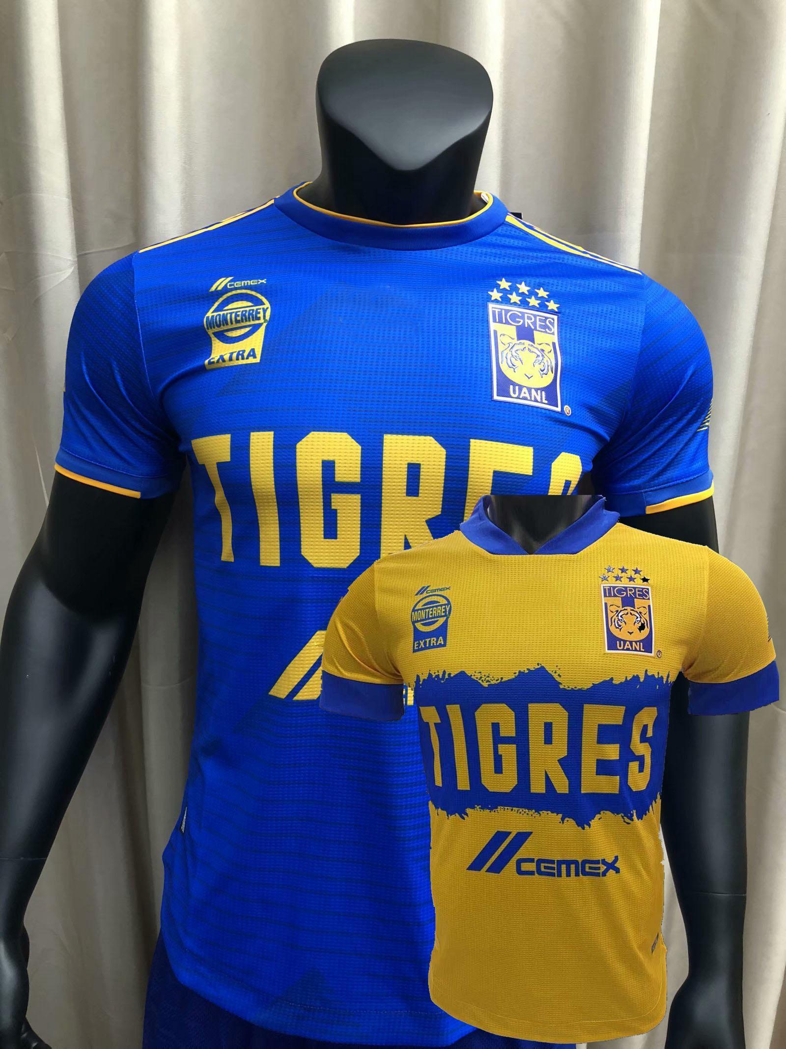 LIGA MX 2020 2021 Tigres Uanl Version Jersey Jerseys Gignac Home Away 20 21 Joueur de football Shirt serré